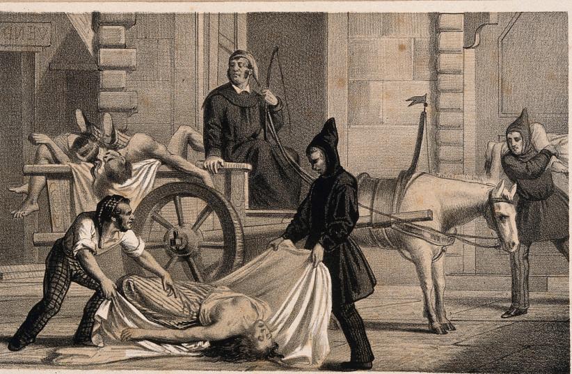 Cholera pandemic of 1835 (photo credit: Wikimedia Commons)