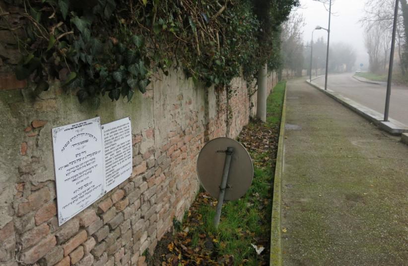 Entrance to Mantova Jewish cemetery (photo credit: Courtesy)