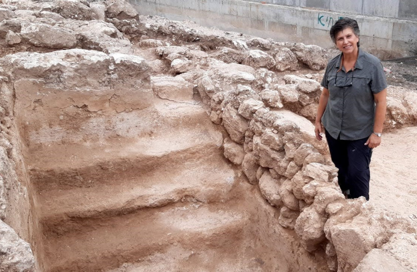 Second Temple period mikve uncovered in Lower Galilee. (photo credit: COURTESY OF STEVE GRAY AND ANAT HARREL.)