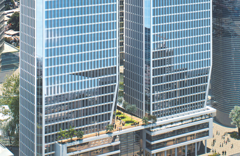 Rubinstein to build  two towers in TA's Yitzhak Sadeh complex (photo credit: Courtesy)