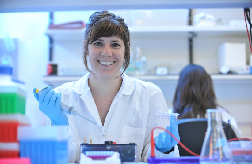PhD student Anna Terem takes part in a research study at Hebrew University of Jerusalem (photo credit: HEBREW UNIVERSITY OF JERUSALEM)