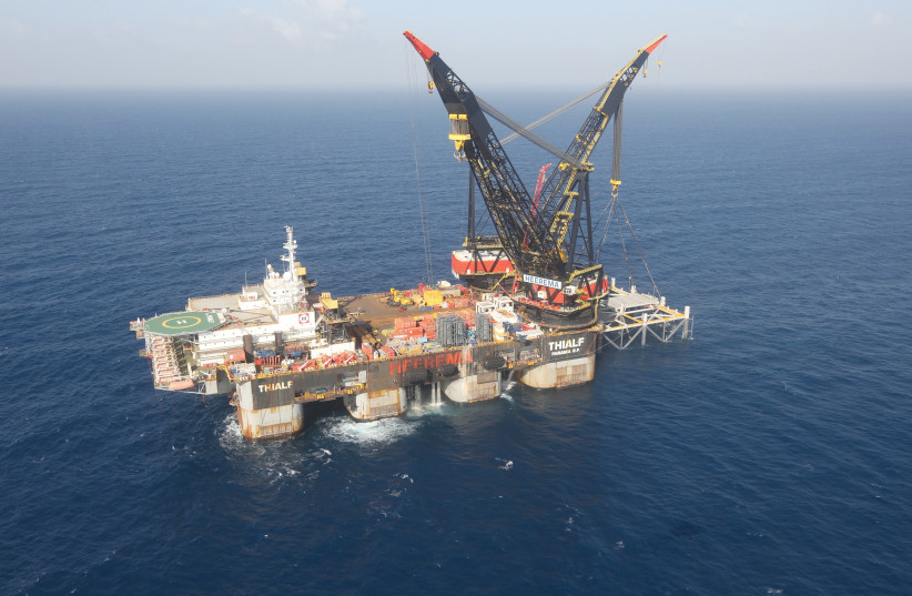 ISRAEL'S GAS fields include some of the largest discovered anywhere in the world since 2010, including the Leviathan natural gas field, off the coast of Haifa. (photo credit: ALBATROSS)