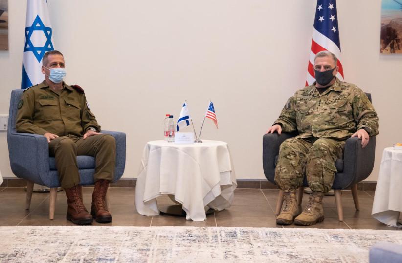 US Gen. Mark Milley visits Israel in July 2020 (photo credit: IDF SPOKESPERSON'S UNIT)