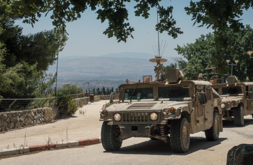 IDF prepares for possible Hezbollah attack in northern Israel, July 2020 (photo credit: IDF SPOKESPERSON'S UNIT)