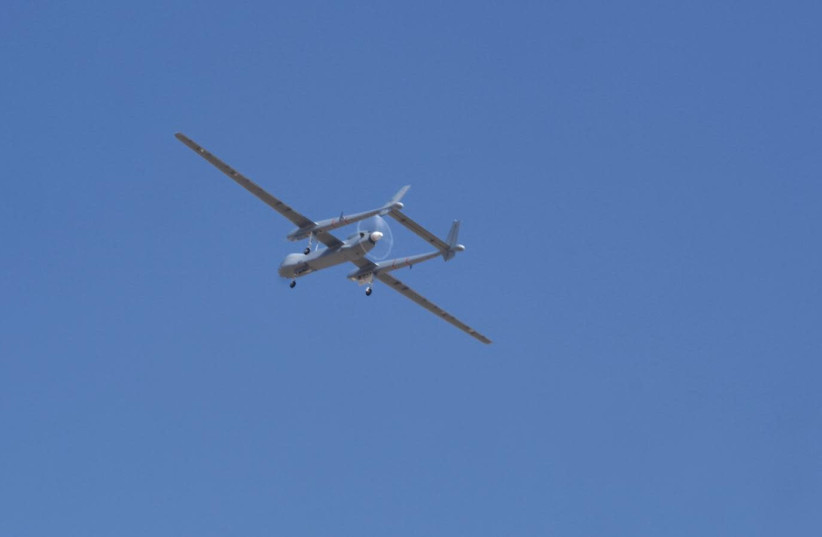 German Heron TP UAV, produced by Israeli Aerospace Industries (IAI) (photo credit: DEFENSE MINISTRY)