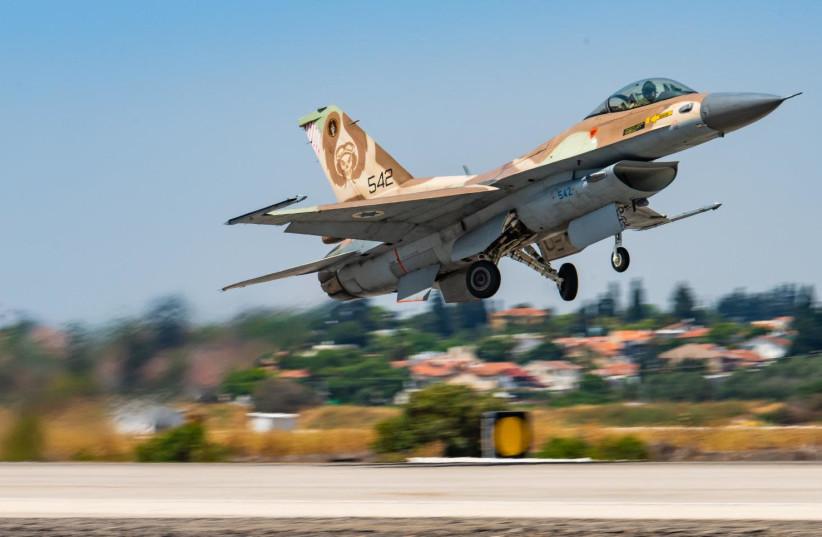 ISRAELI F-16 takes to the skies (credit: IDF SPOKESPERSON'S UNIT)