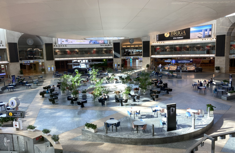 NEARLY EMPTY: Ben-Gurion Airport waiting area (photo credit: SHARON FEIEREISEN)