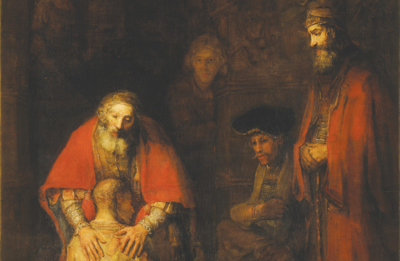 'THE RETURN of the Prodigal Son,' 1668, remembered by many as Rembrandt van Rijn's greatest masterpiece (photo credit: Wikimedia Commons)