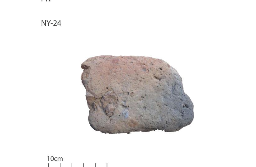 Mud brick from Neve Yam (photo credit: ISAAC OGLOBLIN)