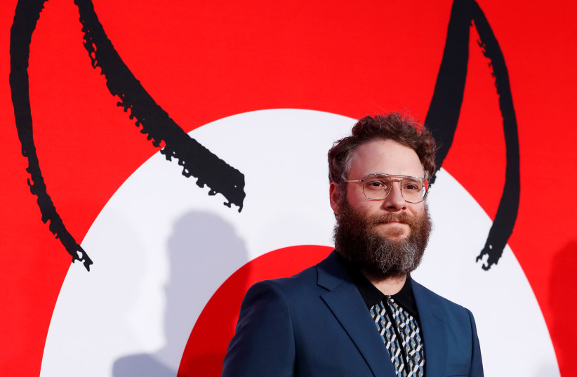 """Producer Seth Rogen at the premiere for the film """"Good Boys"""" in Los Angeles, California, U.S., August 14, 2019 (photo credit: REUTERS/MARIO ANZUONI)"""