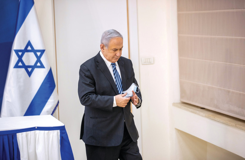 WITH HIS court case looming on charges of bribery, fraud and breach of trust, Prime Minister Benjamin Netanyahu is launching a last-ditch campaign against the levers of civil society, in particular the judiciary, the police and the role of the free press. (photo credit: TAL SHAHAR/REUTERS)