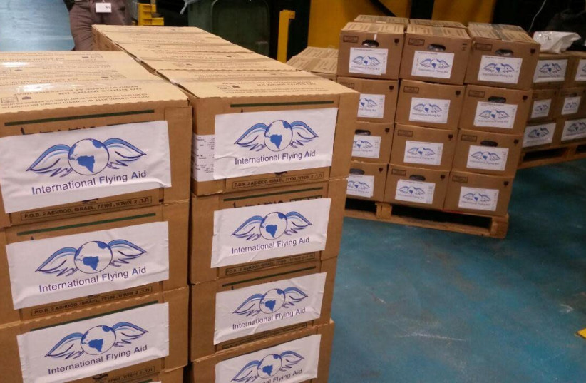 Humanitarian aid intended to be sent to Lebanon. (photo credit: ISRAELI FLYING AID)