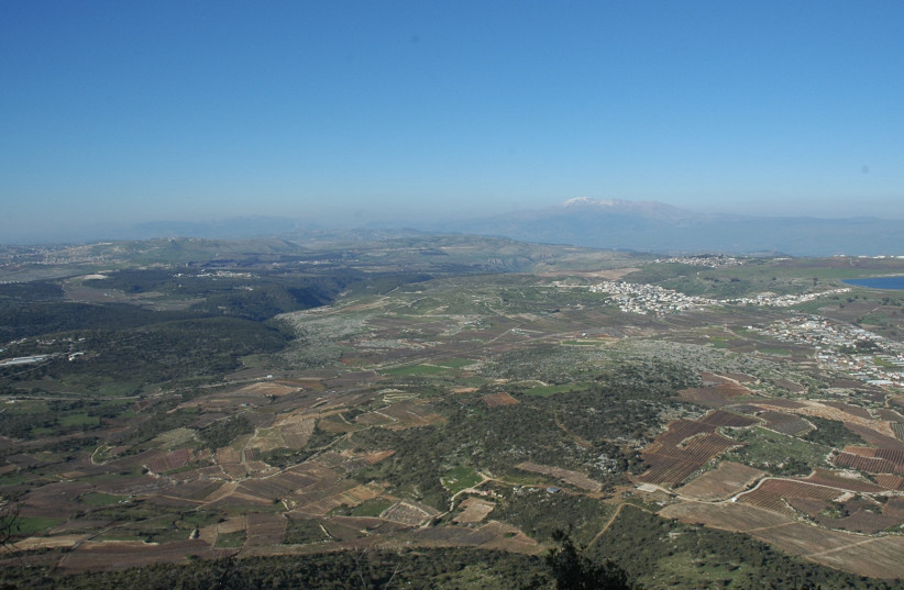 View from Har Meron looking NNE over the Dalton Plateau. (photo credit: COURTESY KYLE KEIMER / MACQUARIE UNIVERSITY)