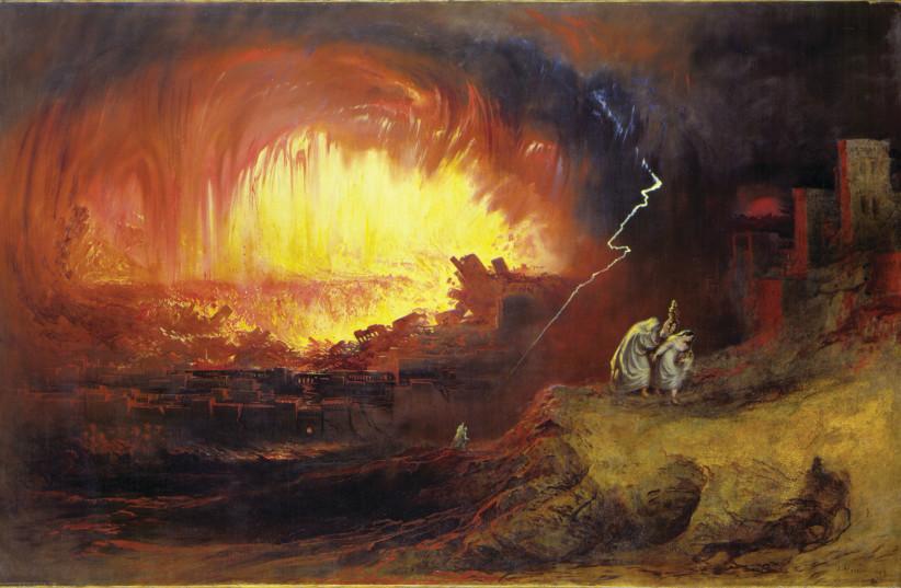 'THE DESTRUCTION Of Sodom And Gomorrah,' John Martin, 1852 (photo credit: Wikimedia Commons)