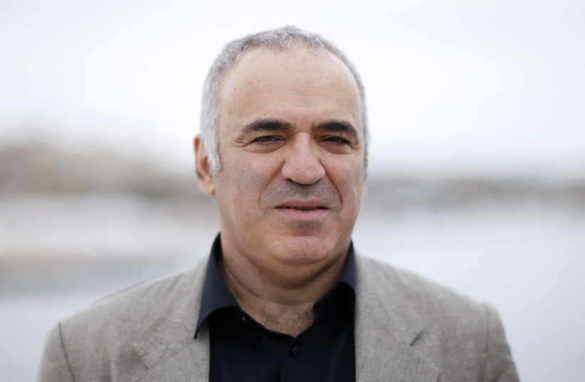 "72nd Cannes Film Festival - Photocall for the manga ""Blitz"" - Cannes, France, May 18, 2019. Former world chess champion Garry Kasparov poses. (photo credit: REUTERS)"