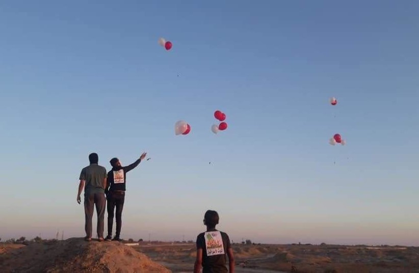 Explosive balloons launched from Gaza – report