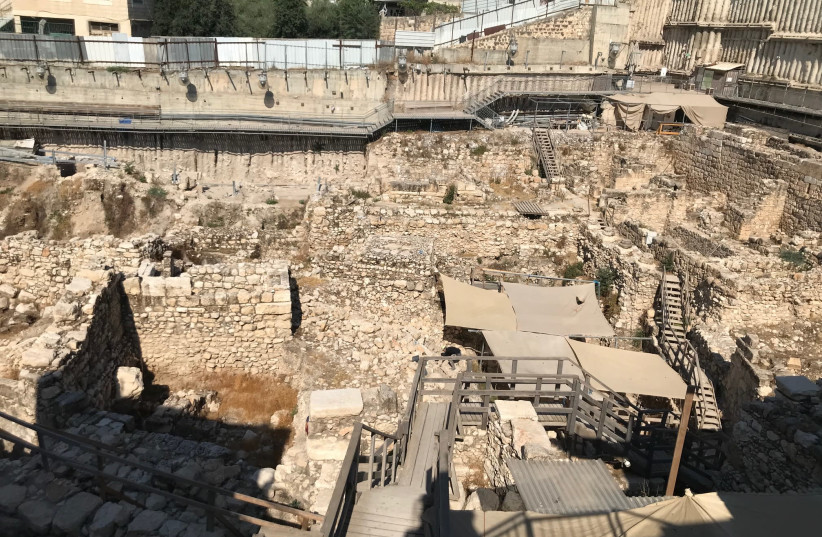 Givati Parking Lot Excavation at the City of David, Jerusalem. (photo credit: ROSSELLA TERCATIN)
