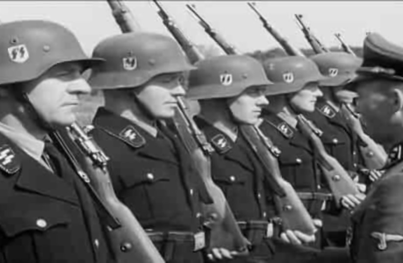 Waffen SS officers in Denmark, 1944 (photo credit: Wikimedia Commons)