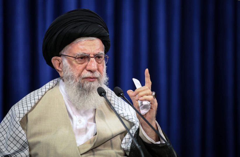Iran Supreme Leader Ayatollah Ali Khamenei, July 2020 (photo credit: KHAMENEI.IR)