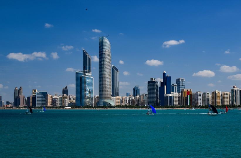 The spectacular Abu Dhabi skyline (photo credit: WIKIPEDIA)