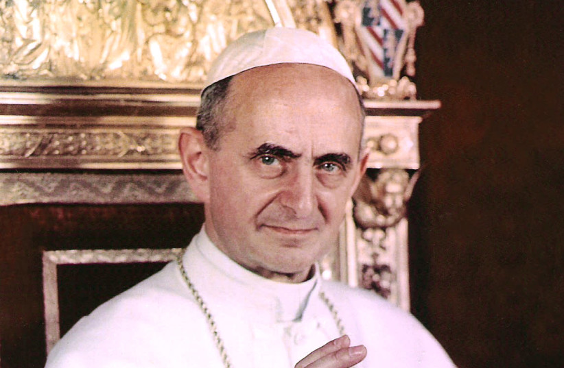 Pope Paul VI in 1963 (photo credit: VATICAN CITY)