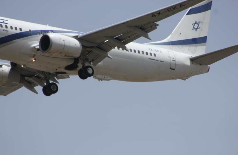 El Al plane equipped with Elbit's Directed IR Countermeasures (photo credit: ELBIT)