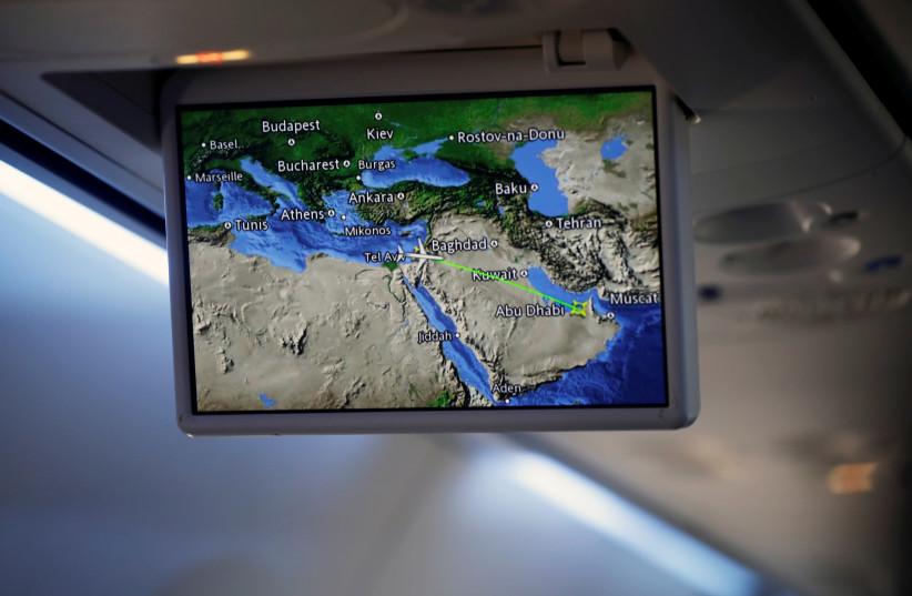 Israeli, US officials land in UAE on historic trip to finalise deal (photo credit: REUTERS/NIR ELIAS)