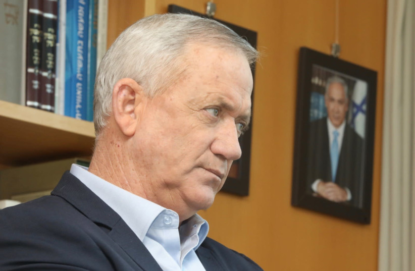 Alternate Prime Minister and Defense Minister Benny Gantz (photo credit: MARC ISRAEL SELLEM)