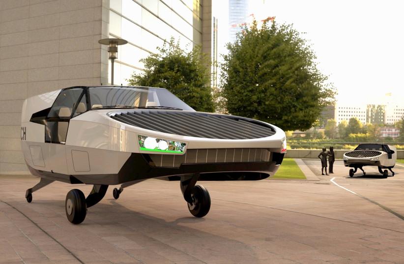The City Hawk model presented in this computer graphic (photo credit: URBAN AERONAUTICS)