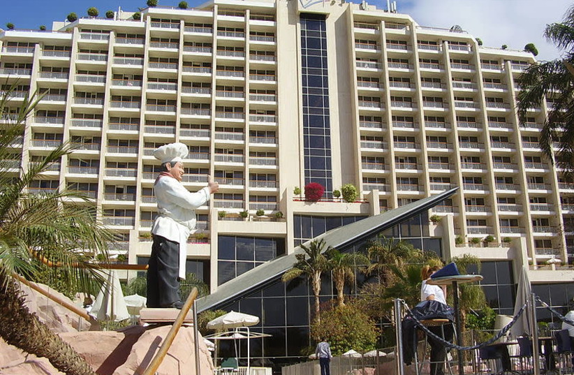 Dan Hotel, Eilat, Israel, February 1, 2012.  (photo credit: AVISHAI TAICHER/WIKIMEDIA COMMONS)