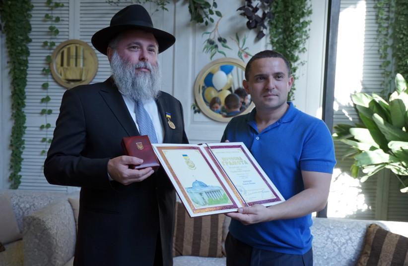 Rabbi Markovitch and Alexander Kunitsky. (photo credit: EVGENIA VODOLAZSKAYA)