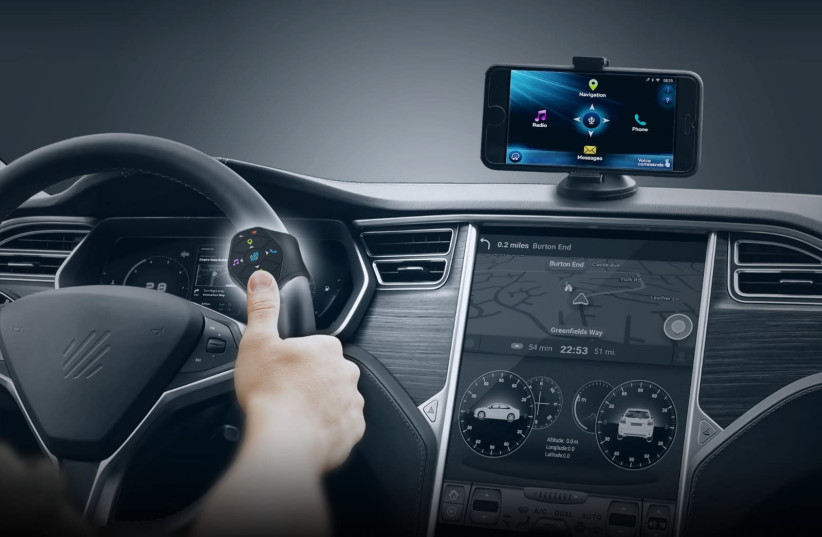 The ImprisWay device used in driving (photo credit: INPRIS)