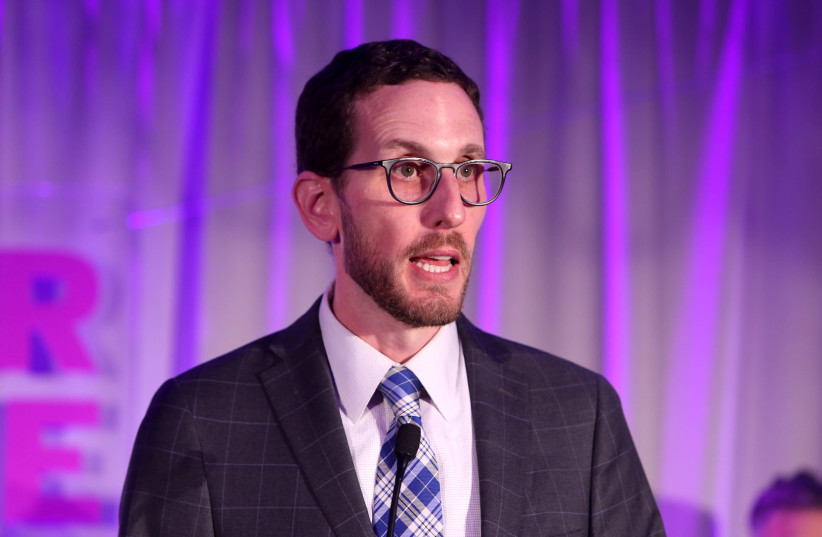 California State Sen. Scott Wiener said his Jewish identity has made him a target before, and he pointed to President Trump's leadership as a factor. (photo credit: RANDY SHROPSHIRE/GETTY IMAGES)