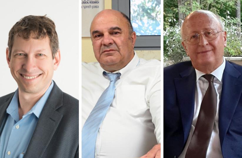 (LR) Tal Zaks, Shmuel Shapiro et Alexander Gintsburg (crédit photo: courtoisie)