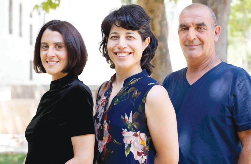 FROM LEFT: Dr. Noa Regev, CEO of the Jerusalem Cinematheque and Israel Film Archive; Hila Abraham, IFA digital preservation and access director; and Meir Russo, IFA manager. (photo credit: BAR MEIR)