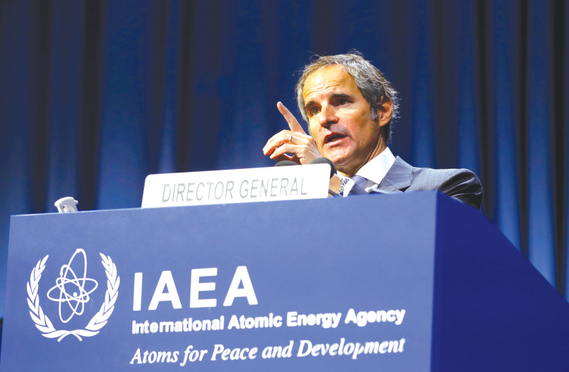 INTERNATIONAL ATOMIC Energy Agency (IAEA) Director General Rafael Grossi talks at the opening of the IAEA General Conference in Vienna, on Monday. (photo credit: REUTERS)