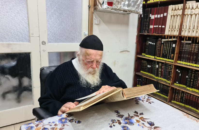 One of the leading rabbis of the non-hassidic haredi world, Rabbi Chaim Kanievsky, 92. October, 2020. (photo credit: SPOKESPERSON FOR RABBI CHAIM KANIEVSKY)