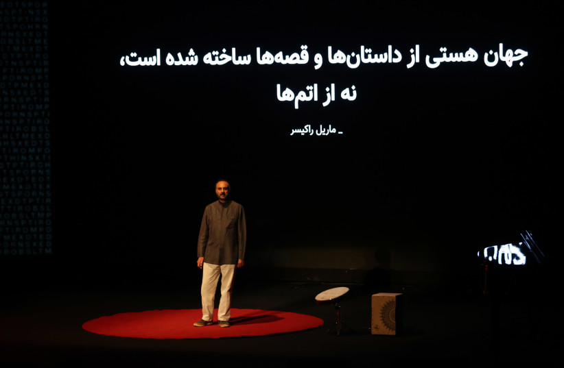 Jafar Mahallati speaks at TEDxTehran (photo credit: ALI MIRSHAFI/TEDXTEHRAN)