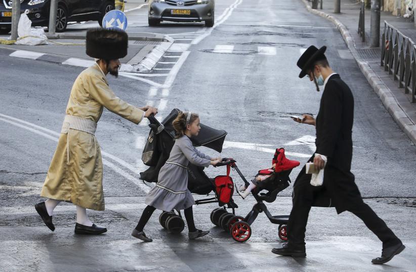 Mea Shearim, Jerusalem during coronavirus pandemic (photo credit: MARC ISRAEL SELLEM)