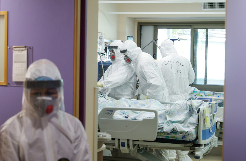 The coronavirus ICU at Galilee Medical Center (photo credit: MARC ISRAEL SELLEM)