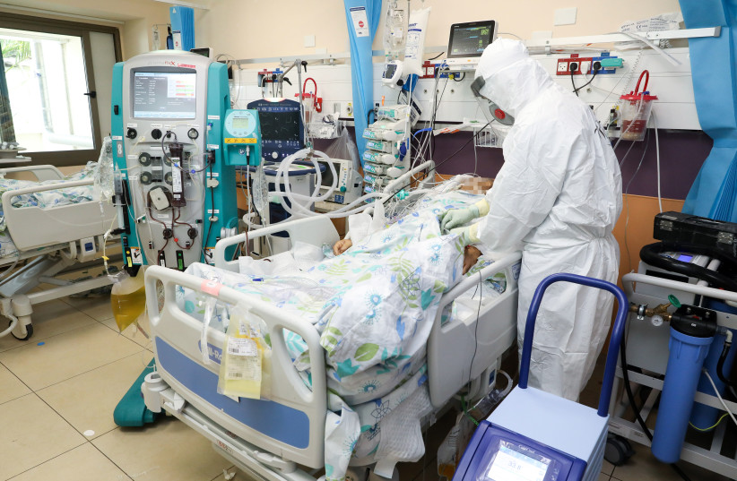 The coronavirus ICU at Galilee Medical Center (photo credit: MARC ISRAEL SELLEM)