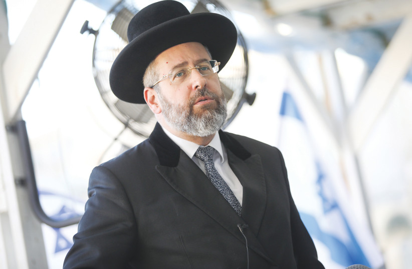 Chief Ashkenazi Rabbi David Lau.  (photo credit: NOAM REVKIN FENTON / FLASH 90)