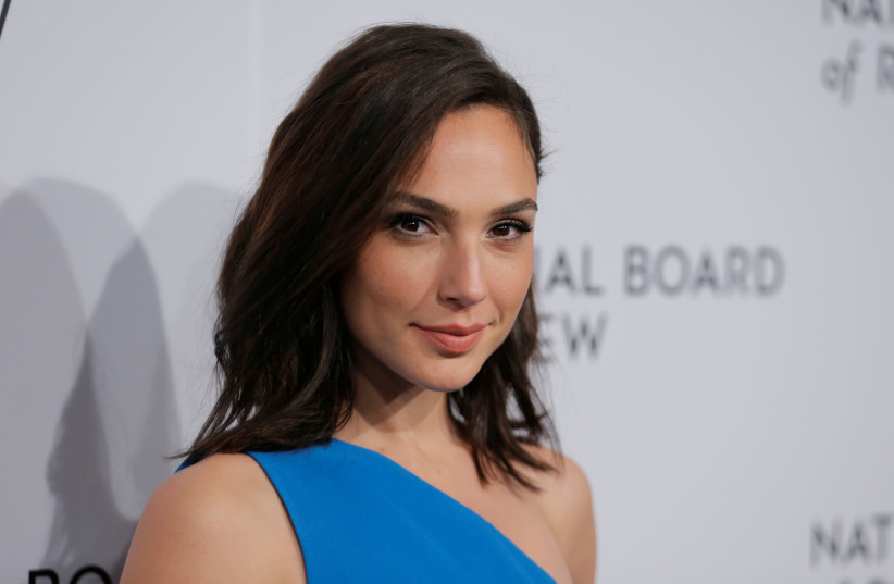 Actor Gal Gadot arrives to attend the National Board of Review awards gala in New York, U.S., January 9, 2018 (photo credit: LUCAS JACKSON/REUTERS)