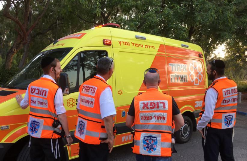 United Hatzalah Mobile Intensive Care Unit team - illustration (photo credit: UNITED HATZALAH)
