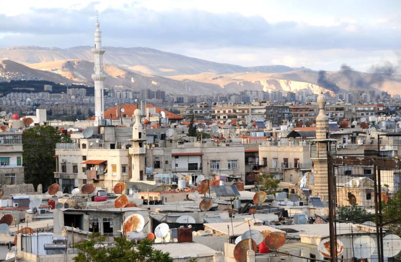 Evening over Damascus, Syria (photo credit: ANJČI/WIKIMEDIA COMMONS)