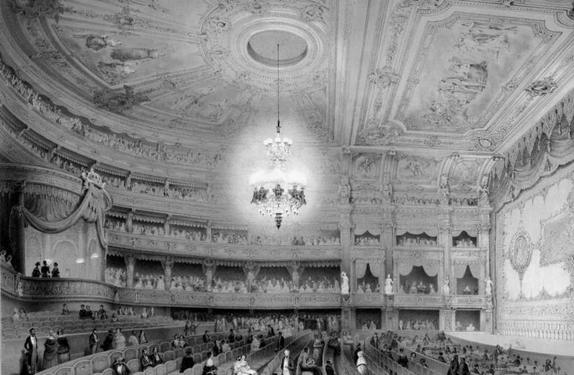 Berlin Royal Opera House, 19th century. (photo credit: NATIONAL LIBRARY OF ISRAEL)