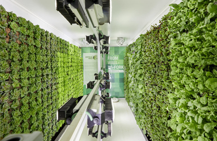 Israeli start-up makes vertical farms to grow crops in city parking lots
