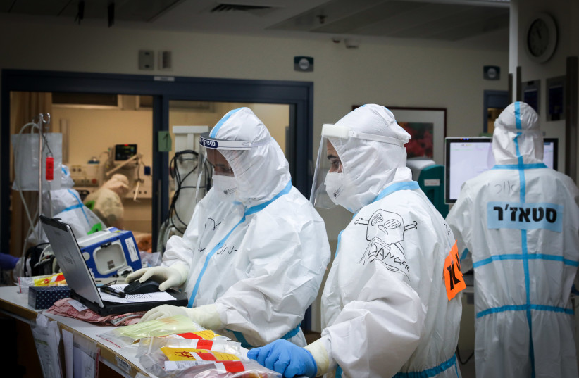 Shaare Zedek coronavirus unit (photo credit: MARC ISRAEL SELLEM)
