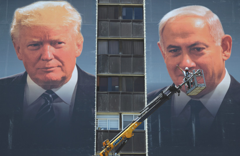 Donald Trump and Benjamin Netanyahu. (photo credit: AMMAR AWAD/REUTERS)