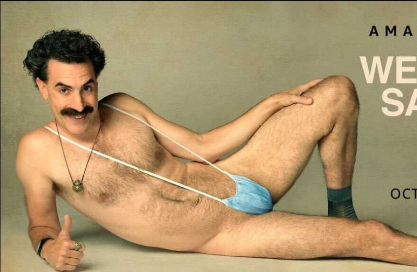 Sacha Baron Cohen poses for a photoshoot for the sequel to his 'Borat' film that was released on Oct. 23, 2020.  (photo credit: AMAZON PRIME)